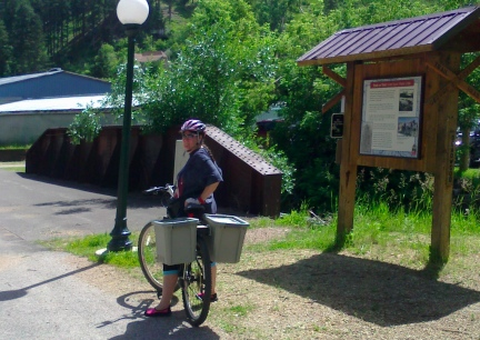 Marna at the Deadwood Mickelson Trailhead  2014-07-08