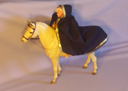 Black & Gold Breyer Doll Cloak