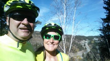 Deron and Marna Sugar Loaf Ride Mickelson Trail 2016-10-17