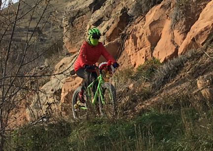 Marna Riding on M Hill Rapid City 2017-11-10