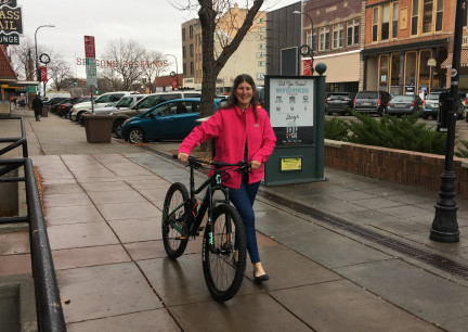 Marna's New Bike in the Rain 2017-11-17