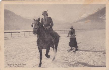 Ski Joring Old Photo