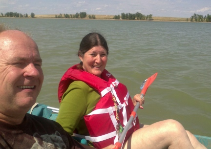 Deron and Marna Pedal Boating 2014-08-17
